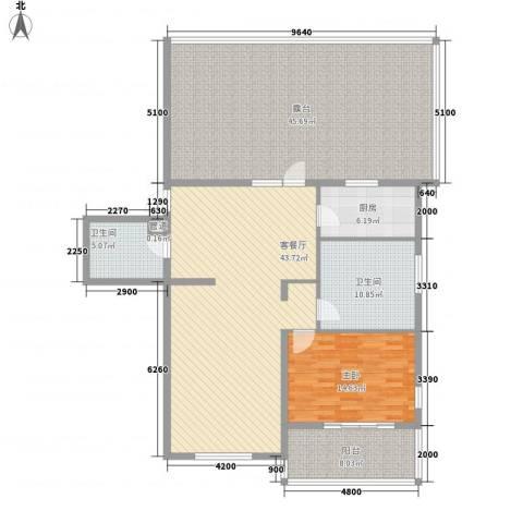 北京太阳城三期1室1厅2卫1厨185.00㎡户型图