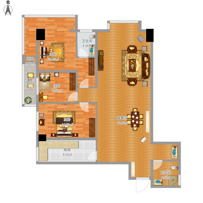 三室二厅1