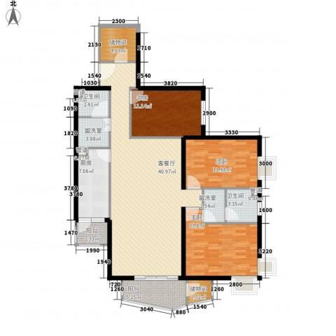 金世纪嘉园3室1厅2卫1厨155.00㎡户型图
