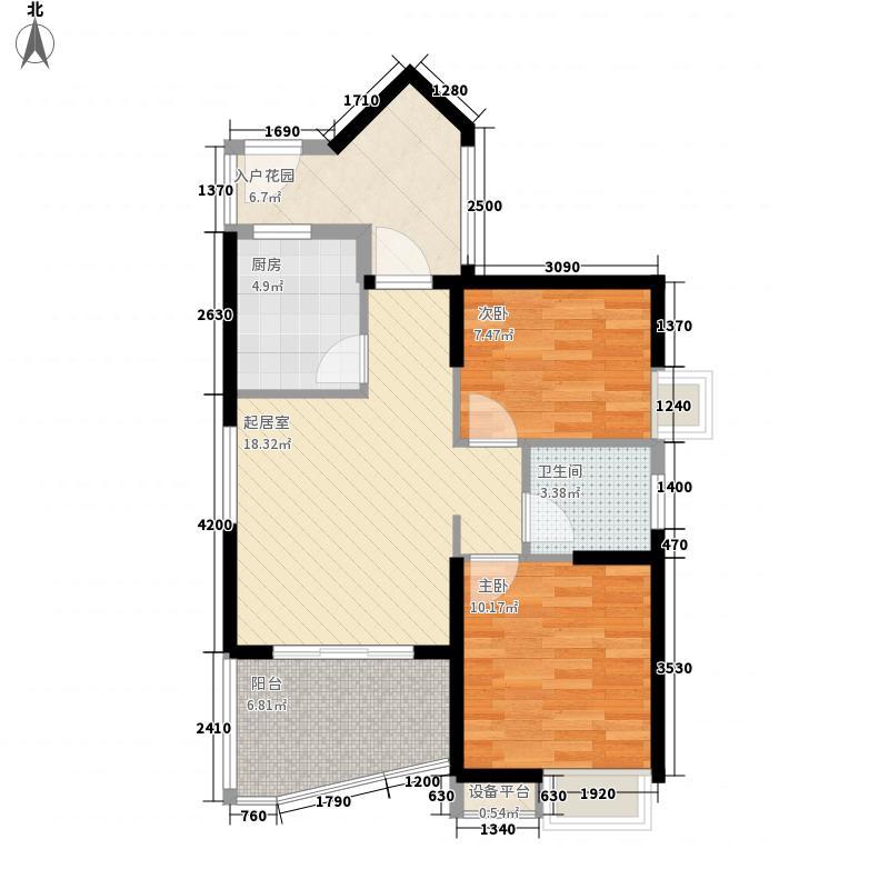 武汉国博新城C7地块1、2号楼C2户型
