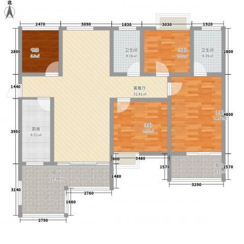 左岸骏景4室1厅2卫1厨144.00㎡户型图