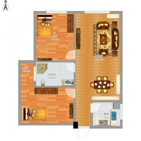 银基商贸城2室1厅1卫1厨96.00㎡户型图
