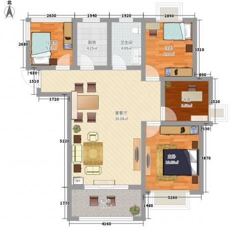 华冶新天地4室1厅1卫1厨109.00㎡户型图