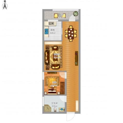 银基商贸城1室1厅1卫1厨68.00㎡户型图