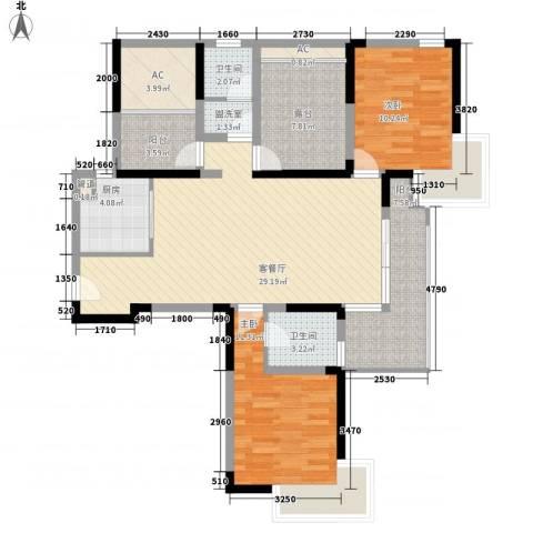凯迪公元2室1厅2卫1厨125.00㎡户型图