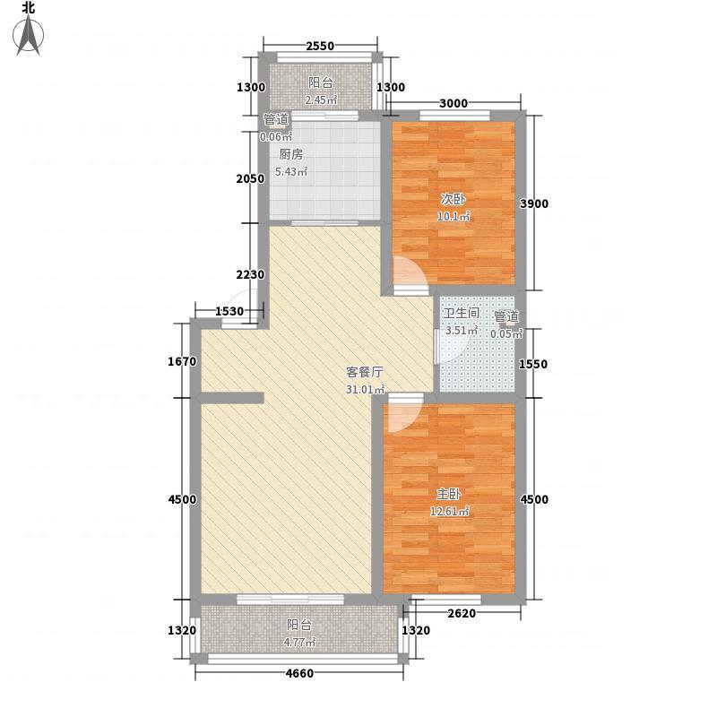 风和美苑88.00㎡风和美苑9#模型带玄关户型10室