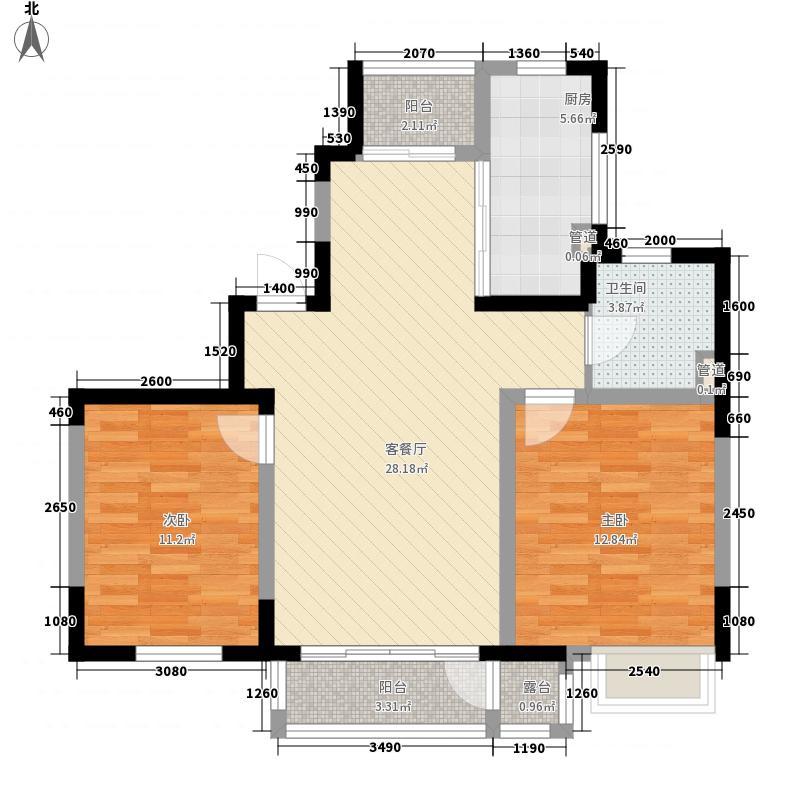 融城时代105.80㎡融城时代户型图融城二期2室2厅1卫户型2室2厅1卫