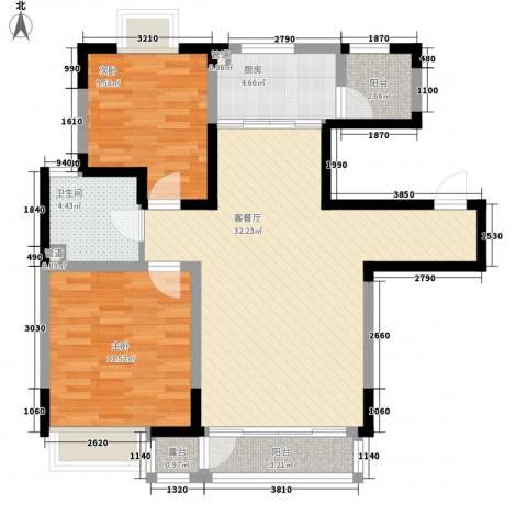 融城时代2室1厅1卫1厨104.00㎡户型图