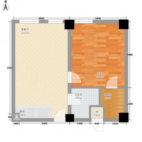 天富公馆1室1厅1卫0厨82.00㎡户型图