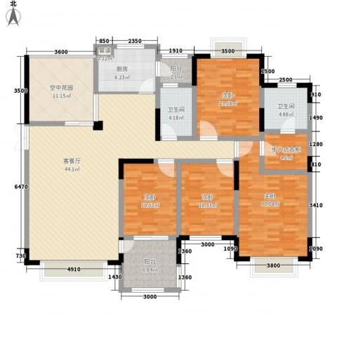 维多利亚公寓4室1厅2卫1厨167.00㎡户型图