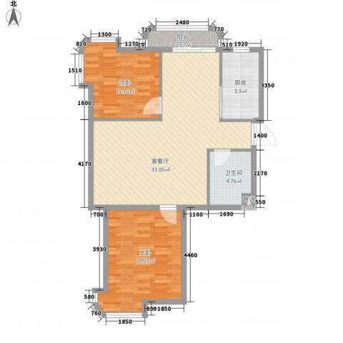 运达嘉洲阳光2室1厅1卫1厨108.00㎡户型图