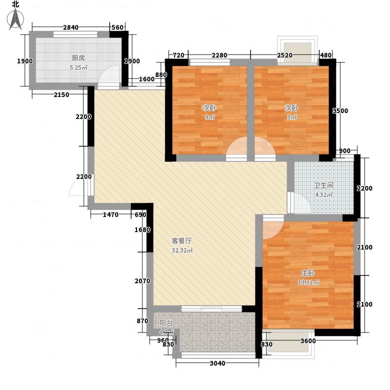 绿地世纪城111.85㎡派克公馆P6#楼户型