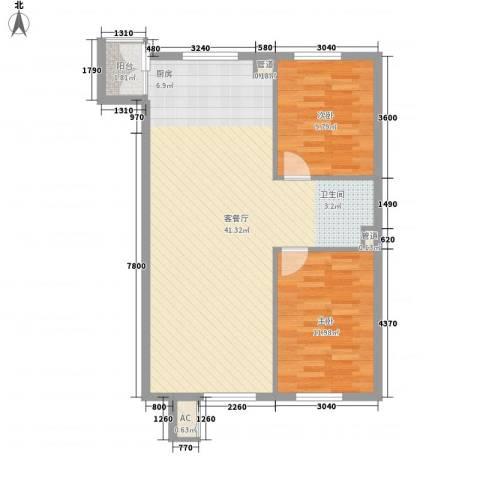 丰和西郡2室1厅0卫0厨90.00㎡户型图