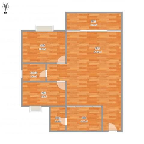 映翠豪庭2室1厅1卫1厨88.00㎡户型图