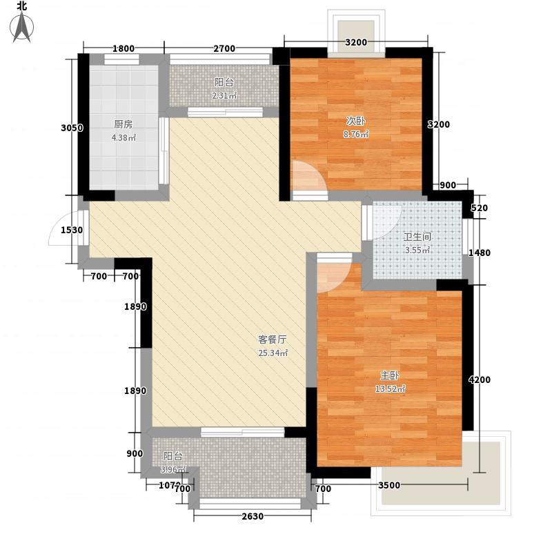 绿地世纪城87.30㎡派克公馆P6#楼户型
