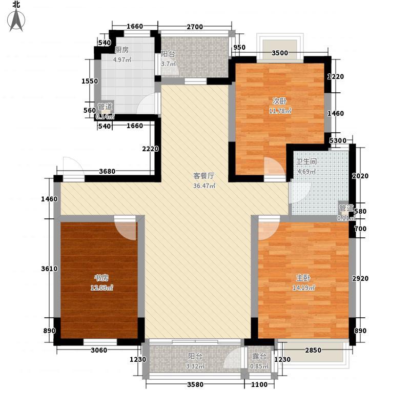 融城时代120.73㎡融城时代户型图3室2厅1卫户型10室
