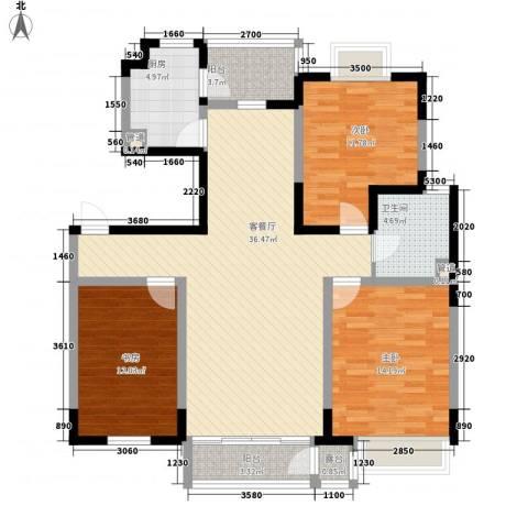融城时代3室1厅1卫1厨121.00㎡户型图