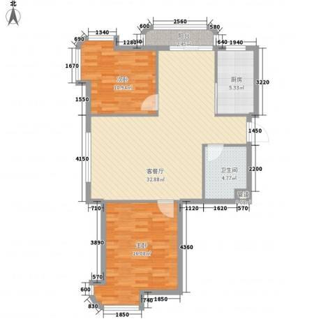 运达嘉洲阳光2室1厅1卫1厨111.00㎡户型图