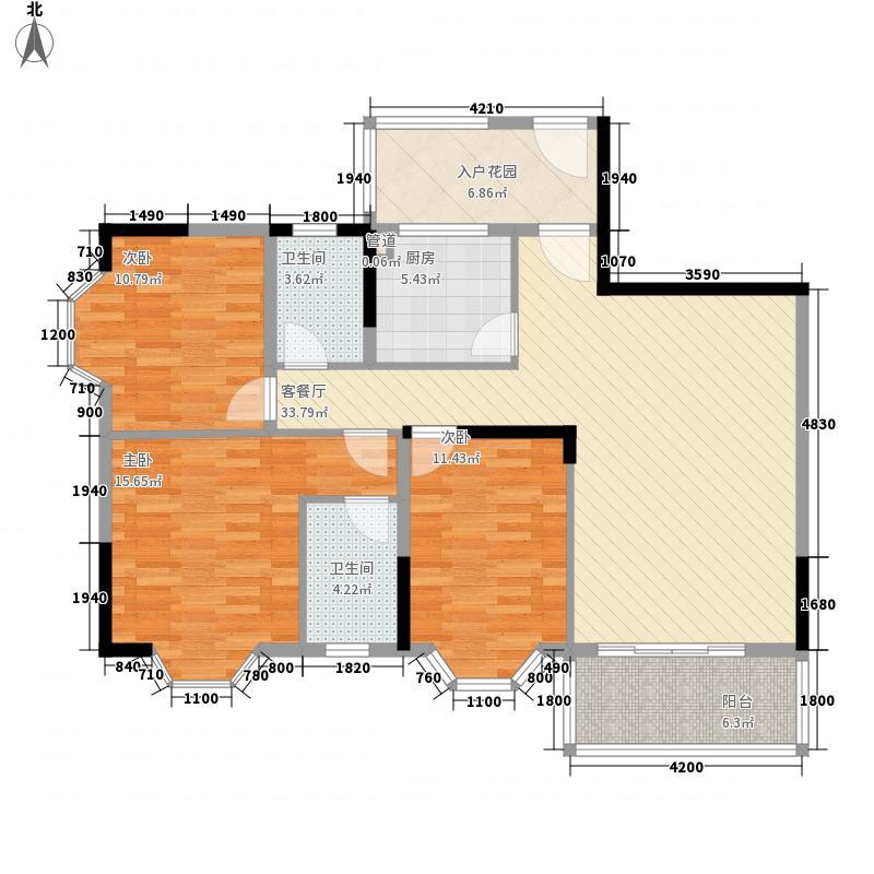 广信四季家园二期127.06㎡广信四季家园二期户型图标准层B户型3室2厅2卫1厨户型3室2厅2卫1厨