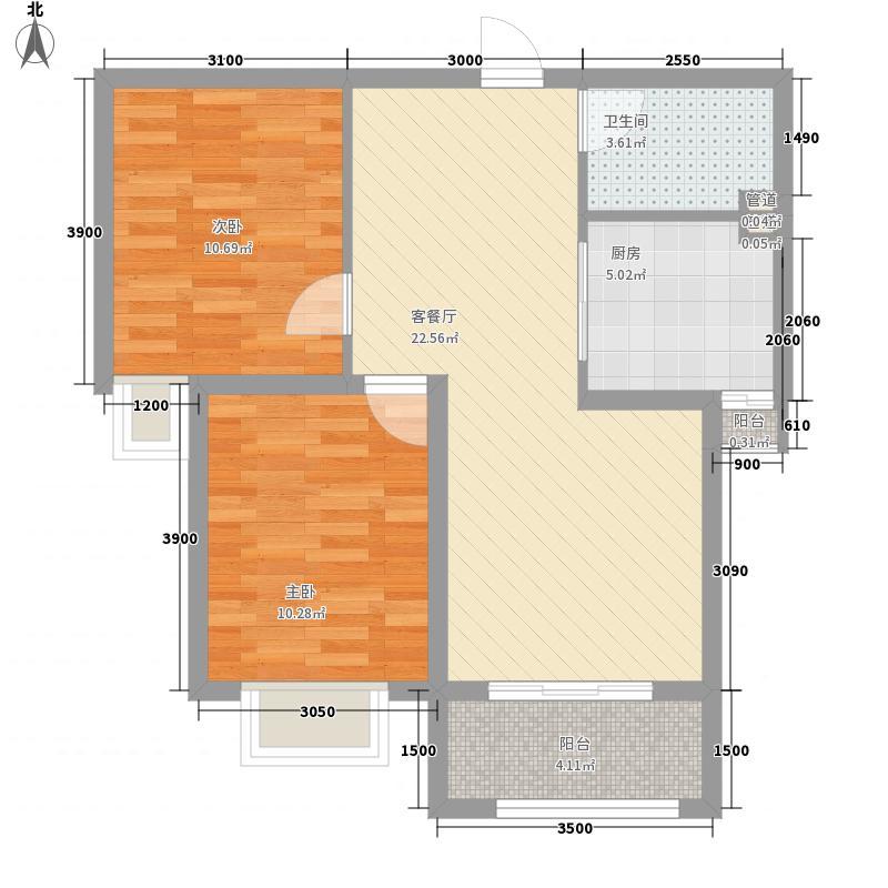 保利达・翠堤湾76.00㎡保利达・翠堤湾户型图B2户型2室2厅1卫户型2室2厅1卫