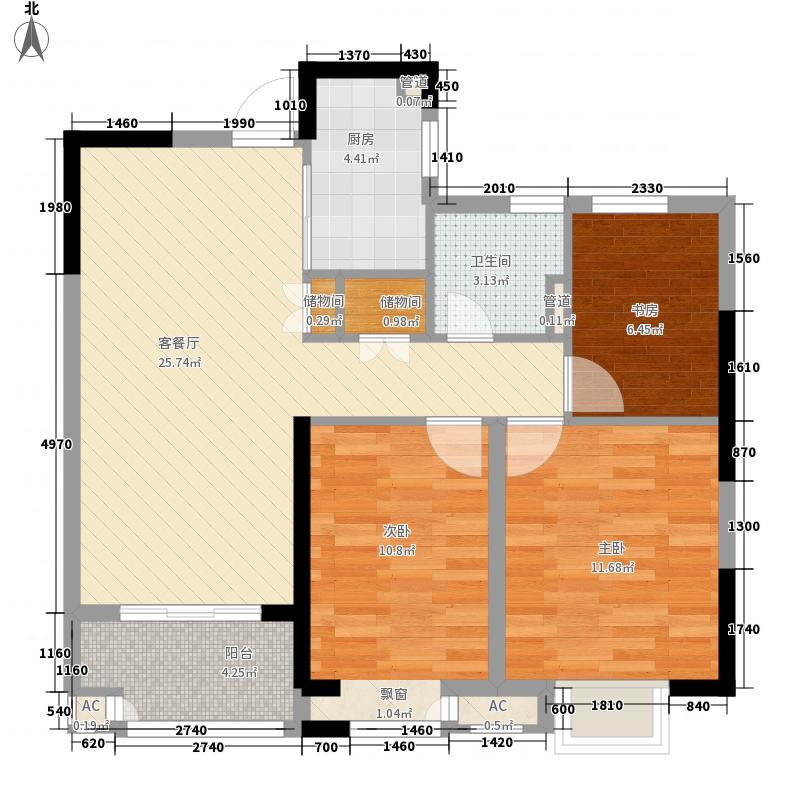 昌和水岸花城99.00㎡昌和水岸花城户型图A23室2厅1卫1厨户型3室2厅1卫1厨