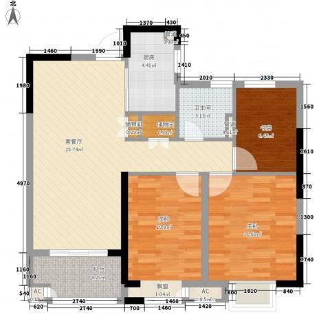 昌和水岸花城3室1厅1卫1厨99.00㎡户型图