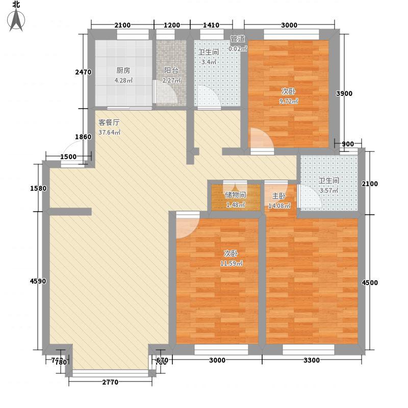 紫郡城121.64㎡紫郡城户型图3室2厅2卫户型10室