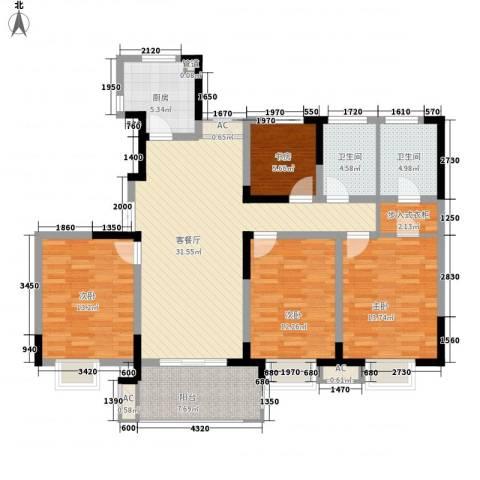 昌和水岸花城4室1厅2卫1厨148.00㎡户型图