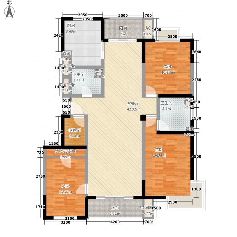 蓝馨花园XG-4标准层之A户型3室2厅2卫