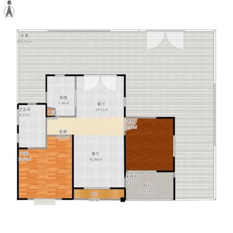 长江国际花园二期2室1厅1卫1厨297.00㎡户型图