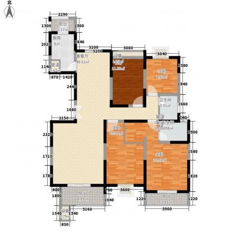 振业泊墅4室1厅2卫1厨165.00㎡户型图