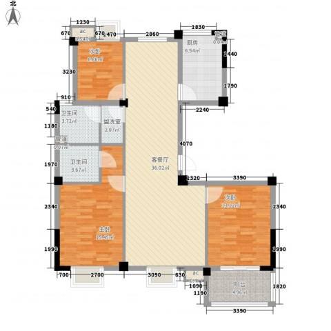 星盛家园3室1厅2卫1厨132.00㎡户型图