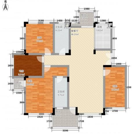 万科西街庭院4室1厅2卫1厨160.00㎡户型图