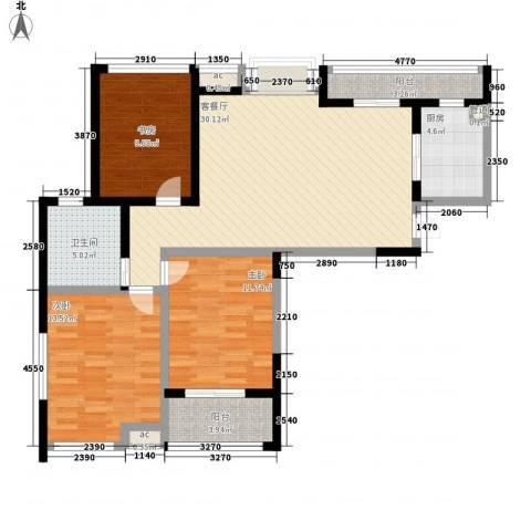 世纪华城3室1厅1卫1厨121.00㎡户型图