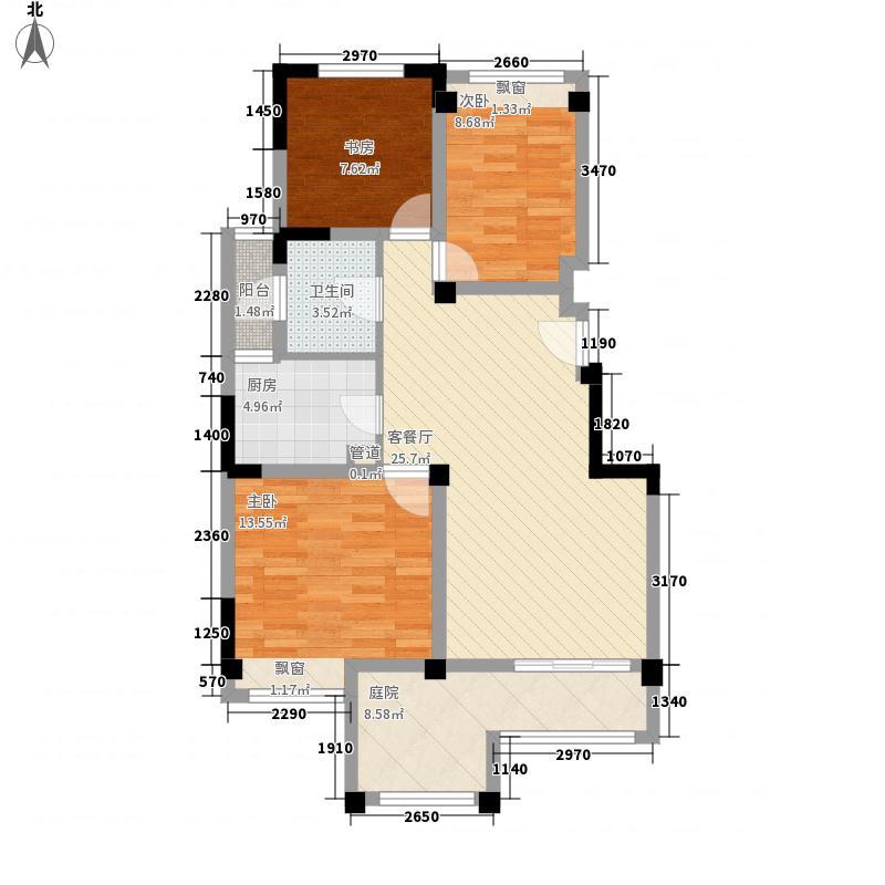 建业时光原著96.00㎡建业时光原著户型图8―13#E3户型3室2厅1卫1厨户型3室2厅1卫1厨