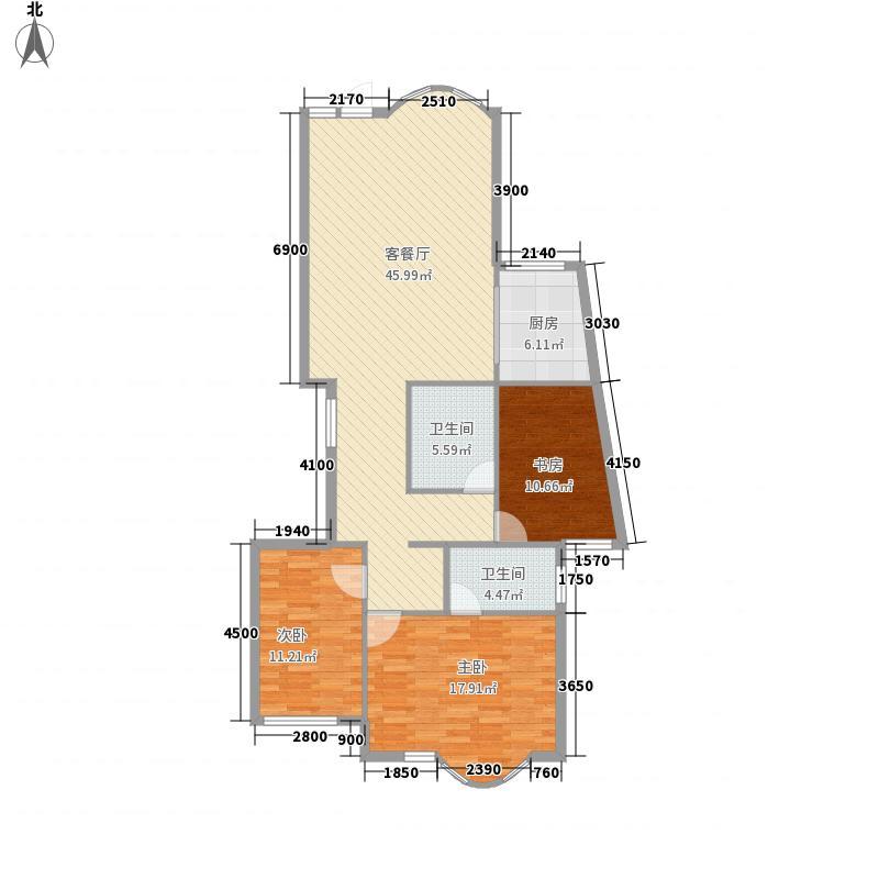 上京新航线143.00㎡户型3室