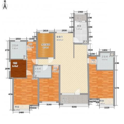 侨苑山庄4室1厅3卫1厨200.00㎡户型图