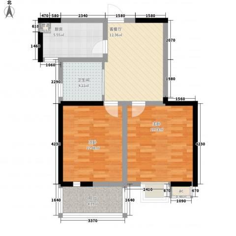 枫林雅都2室1厅1卫1厨78.00㎡户型图