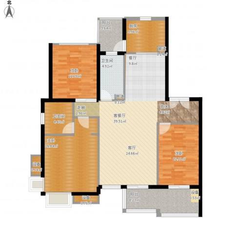 新凯御景湾3室1厅2卫1厨154.00㎡户型图