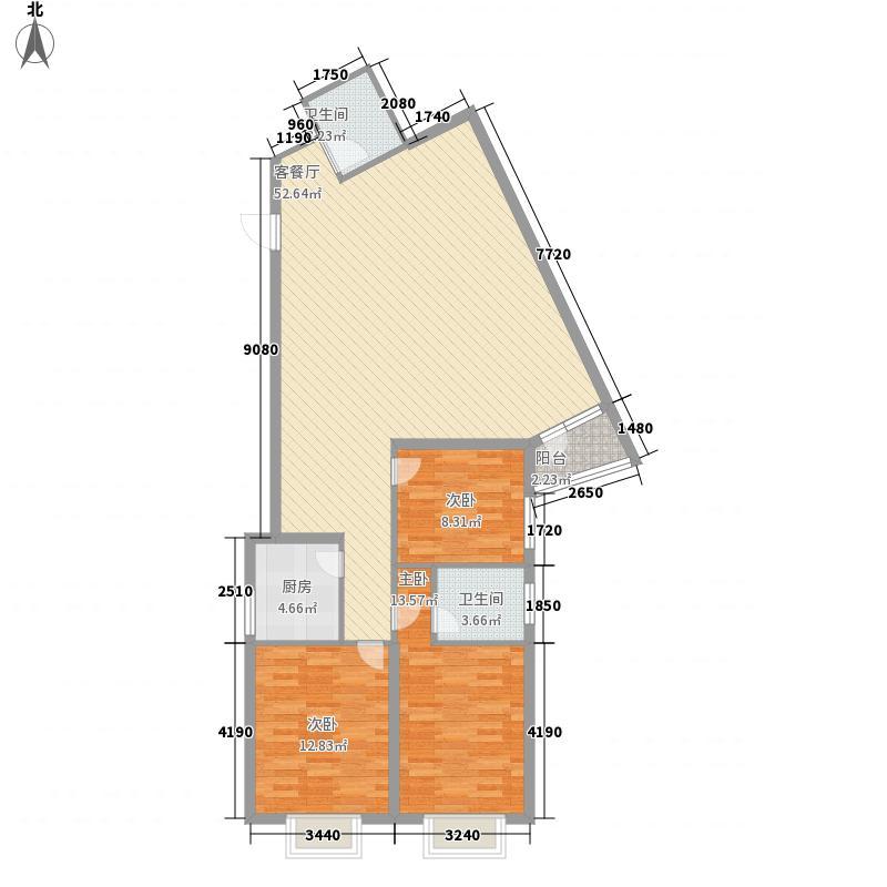 时代伟业2008140.73㎡140.73平米-悉尼大厦户型6户型3室2厅2卫1厨