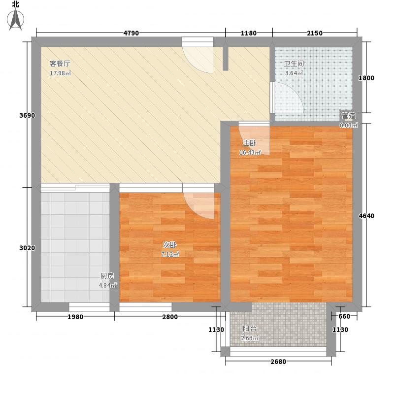 时代伟业200869.64㎡罗马大厦07户型2室1厅1卫1厨