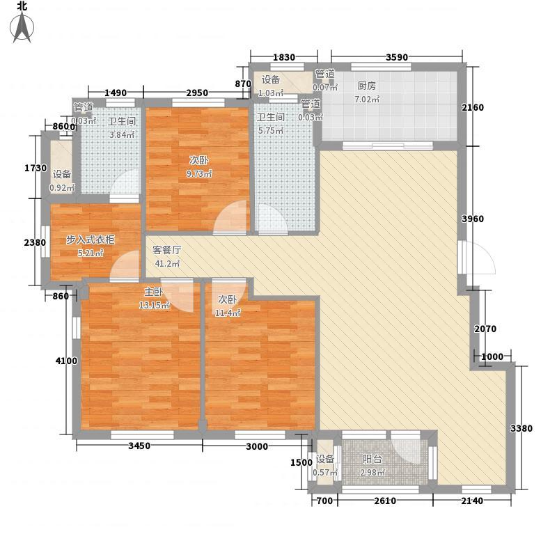 春田户型图蝶园B1户型图 3室2厅2卫1厨