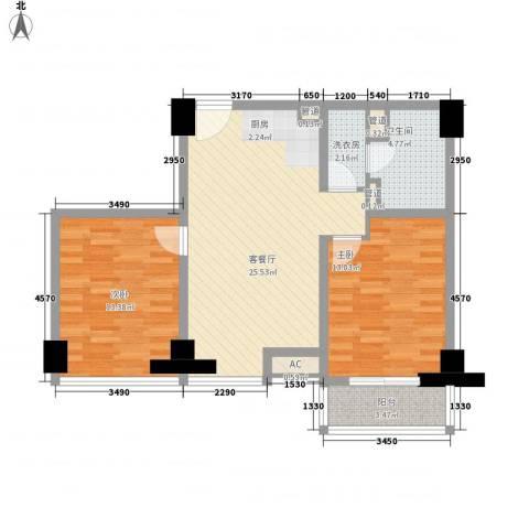 通商华富国际广场2室1厅1卫0厨92.00㎡户型图