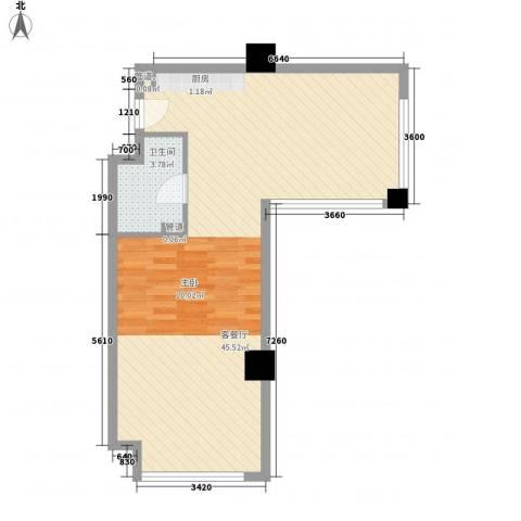 和平大道1厅1卫0厨70.00㎡户型图