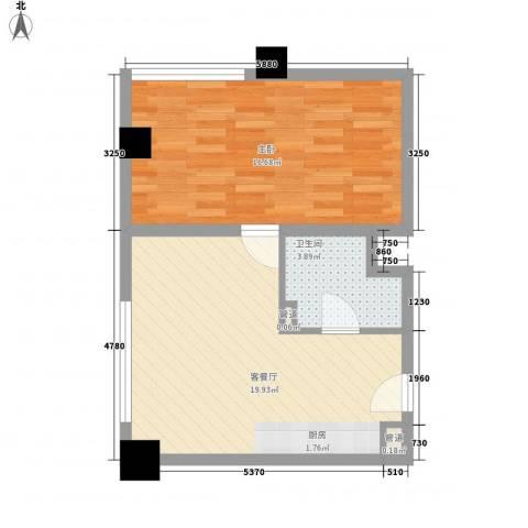 和平大道1室1厅1卫0厨48.00㎡户型图