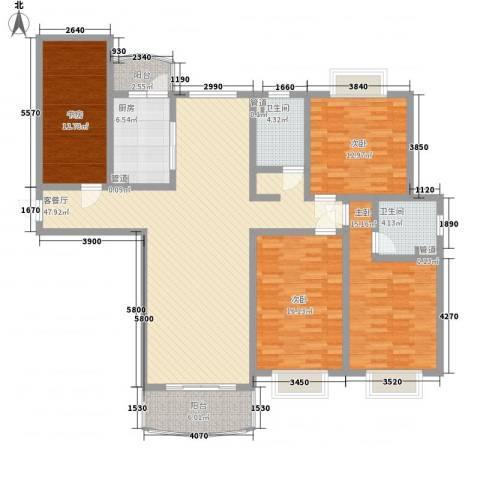 河风丽景4室1厅2卫1厨186.00㎡户型图