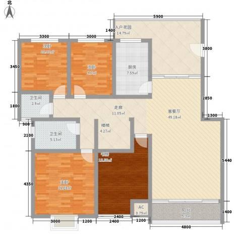 丽阳天下4室1厅2卫1厨194.00㎡户型图