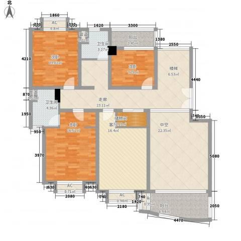 璞俪公馆3室1厅2卫0厨180.00㎡户型图