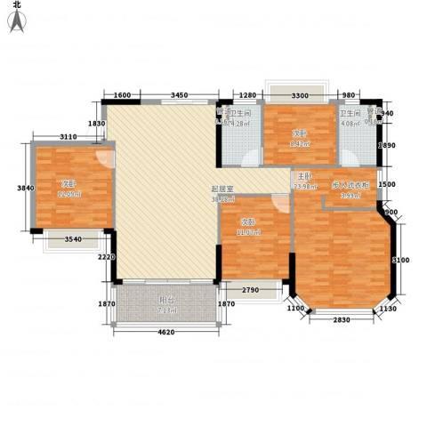 恒大山水城别墅4室0厅2卫0厨144.00㎡户型图