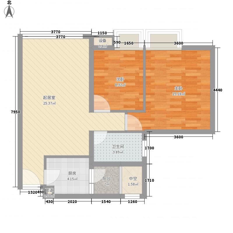 九洲时代户型2室2厅